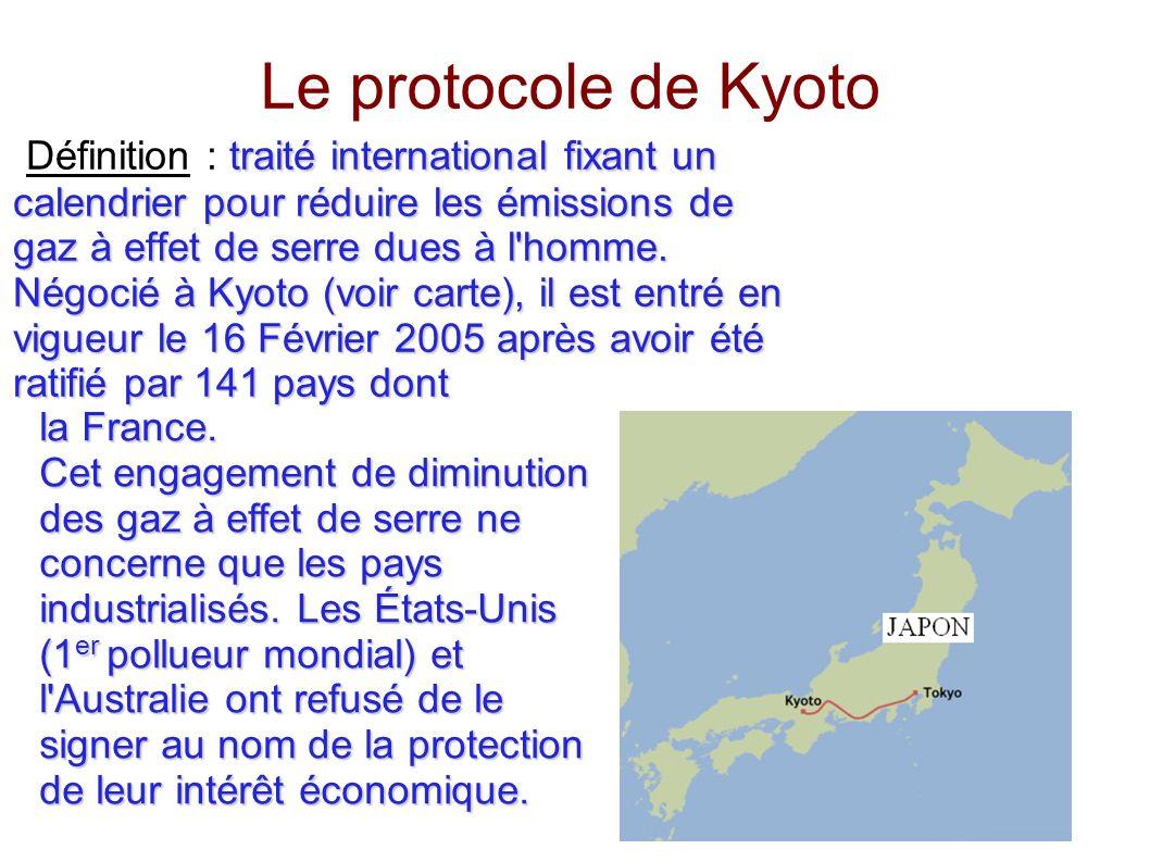 Calendrier Definition.Le Protocole De Kyoto Definition Traite International Fixant Un Calendrier Pour Reduire Les Emissions De Gaz A Effet De Serre Dues A L Homme Negocie
