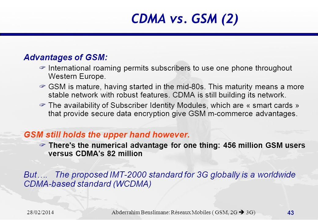 Gsm and cdma |authorstream.