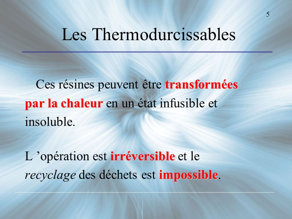 Les Thermodurcissables