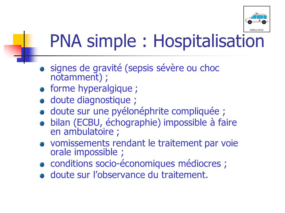 PNA simple : Hospitalisation