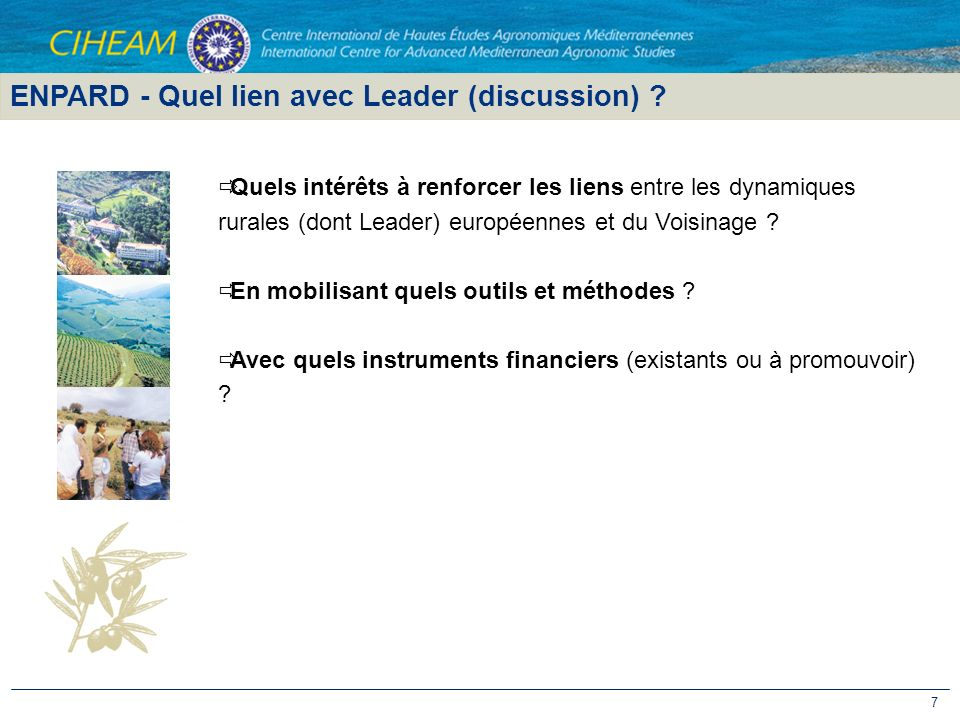 ENPARD - Quel lien avec Leader (discussion)