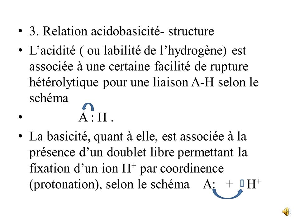 3. Relation acidobasicité- structure