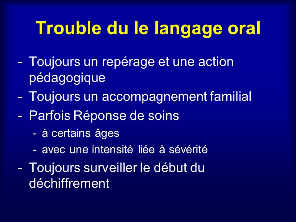 Trouble Langage Oral 6