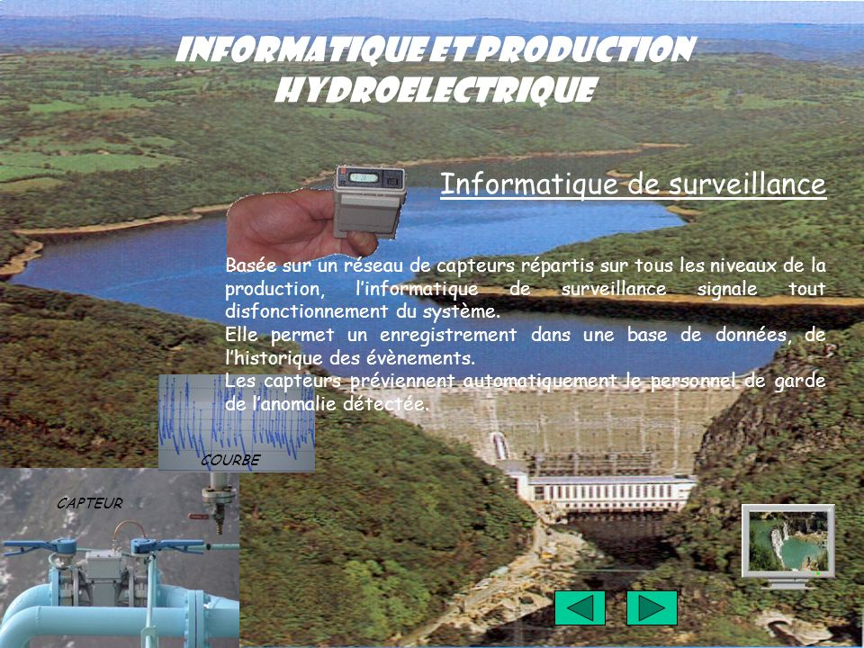 INFORMATIQUE ET PRODUCTION HYDROELECTRIQUE