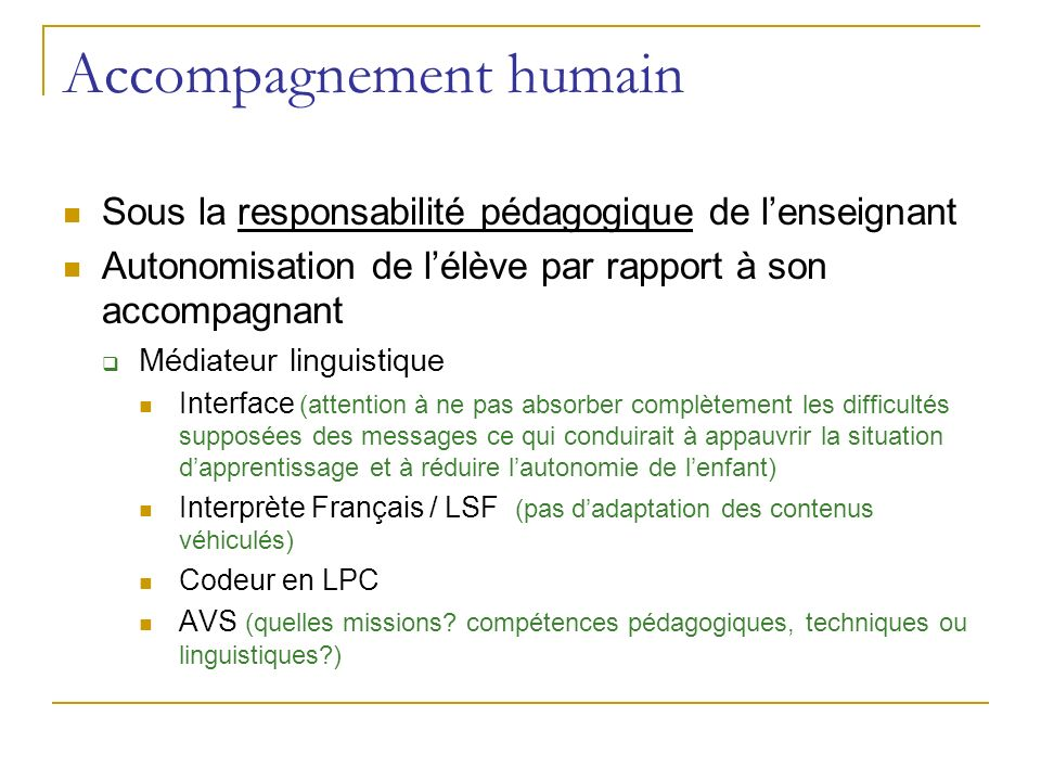 Accompagnement humain