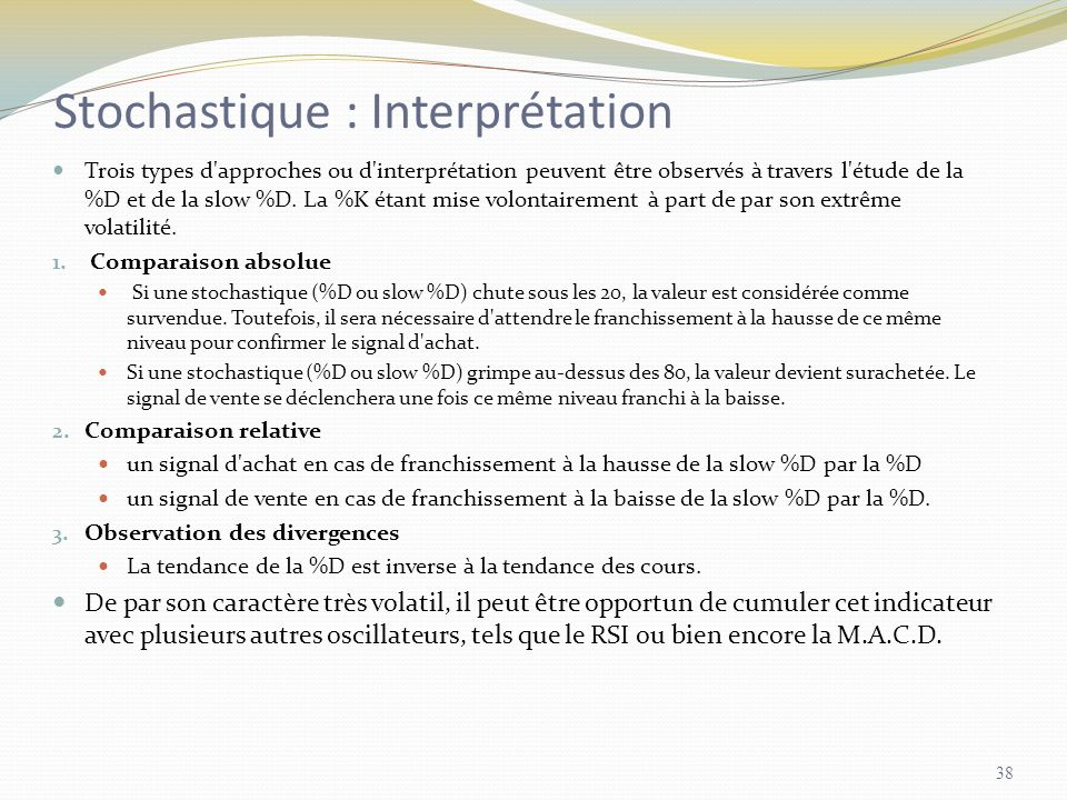 Stochastique : Interprétation