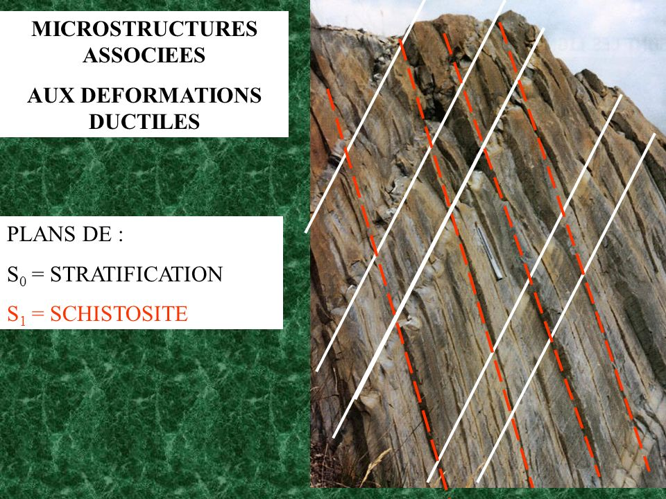 MICROSTRUCTURES ASSOCIEES AUX DEFORMATIONS DUCTILES