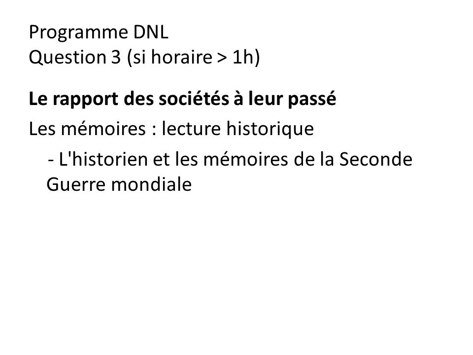 Programme DNL Question 3 (si horaire > 1h)