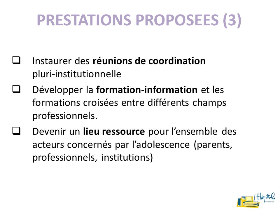 PRESTATIONS PROPOSEES (3)
