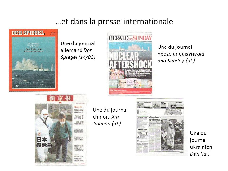 …et dans la presse internationale