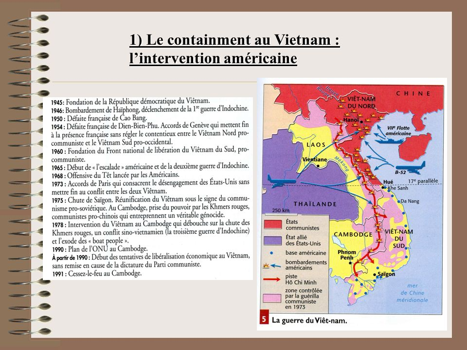 1) Le containment au Vietnam : l'intervention américaine