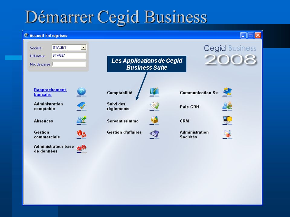 Démarrer Cegid Business