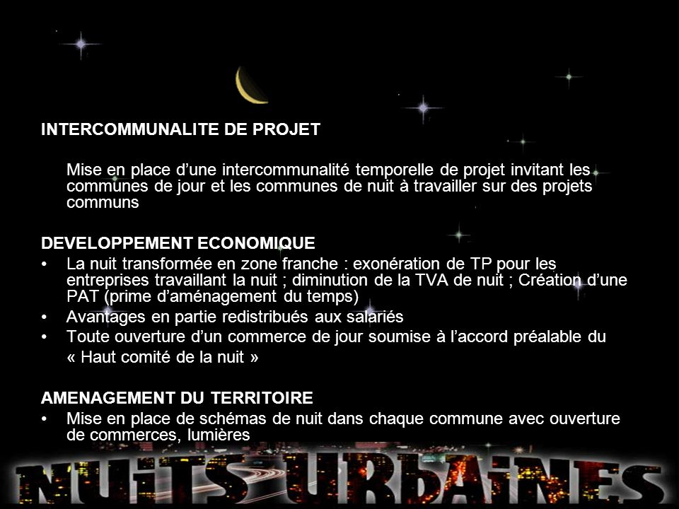 INTERCOMMUNALITE DE PROJET