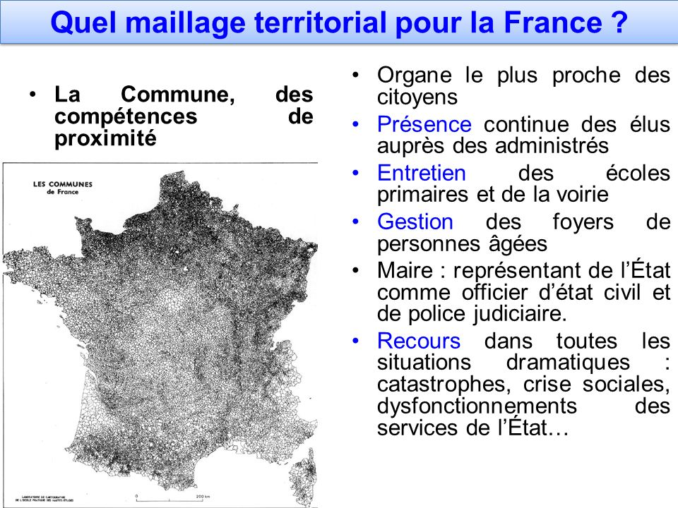 Quel maillage territorial pour la France
