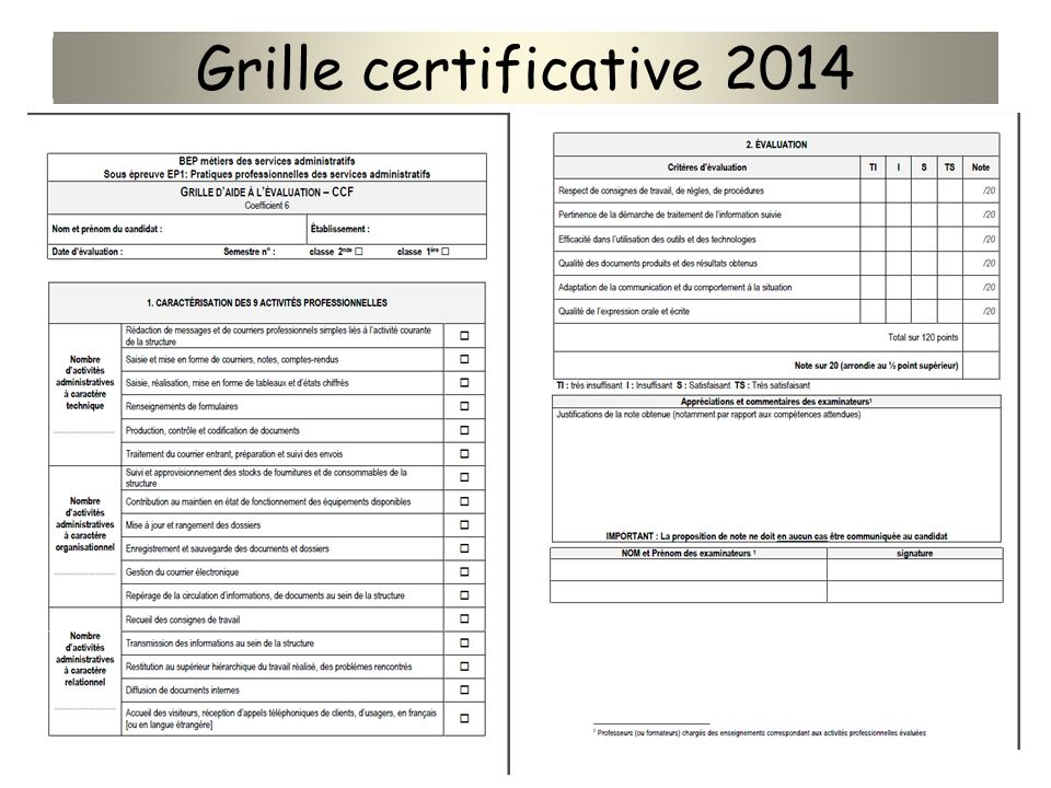 Grille certificative 2014