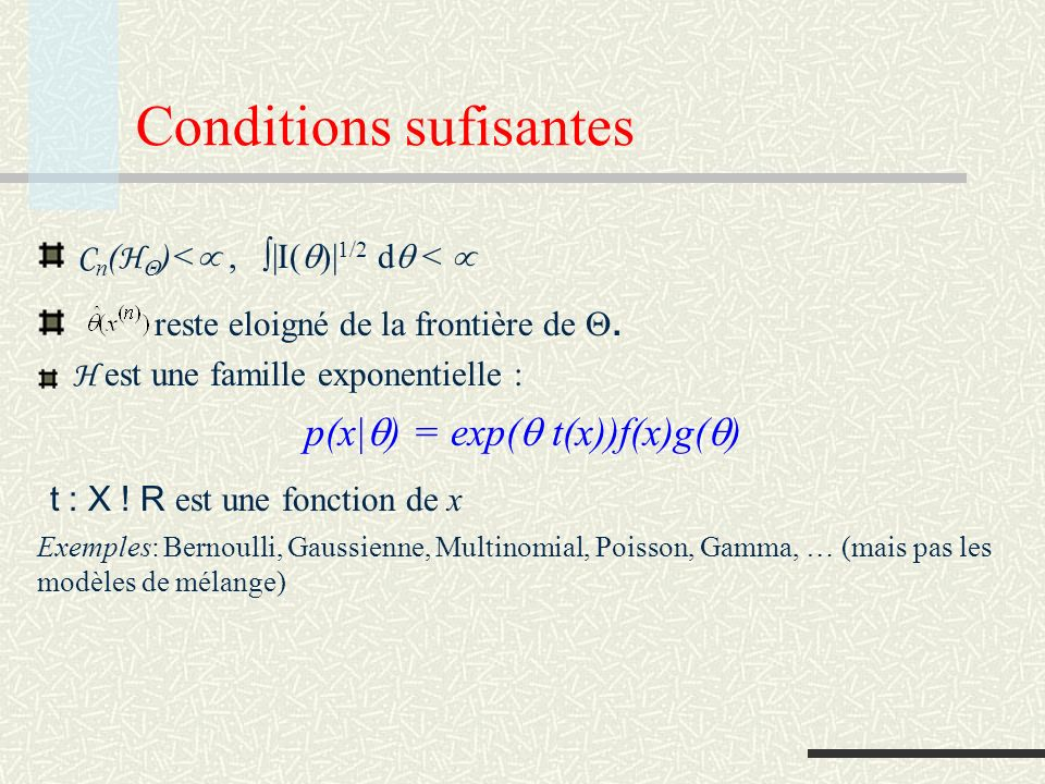 Conditions sufisantes