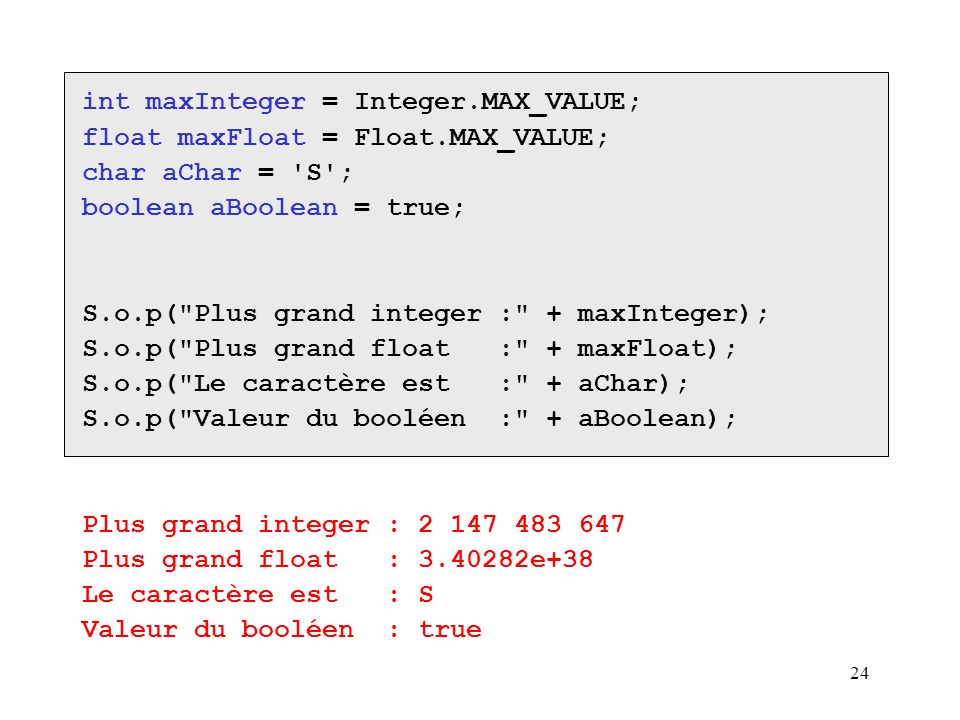 int maxInteger = Integer.MAX_VALUE;