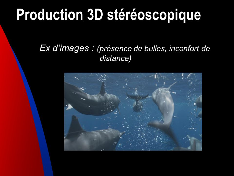 Production 3D stéréoscopique