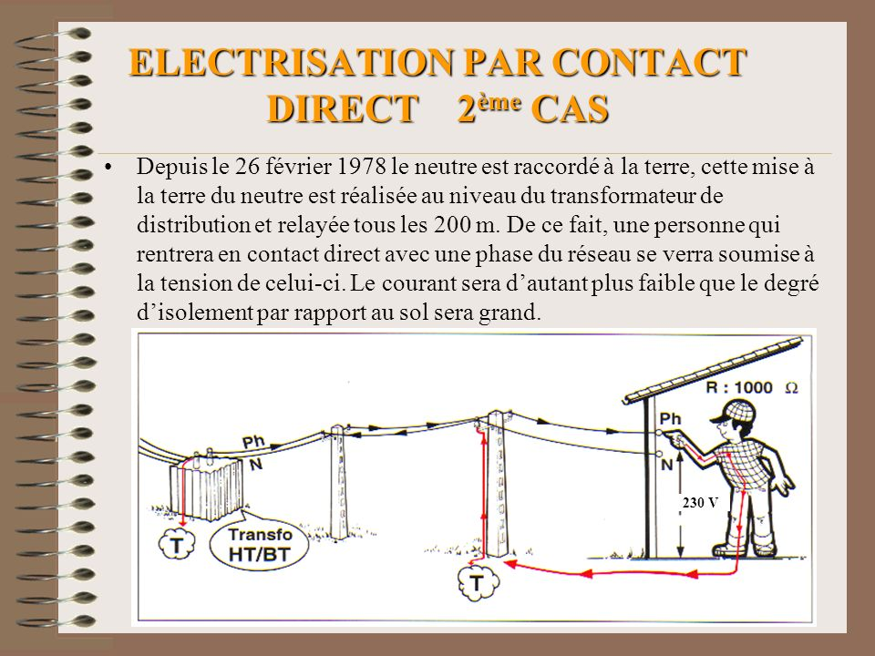 ELECTRISATION PAR CONTACT DIRECT 2ème CAS