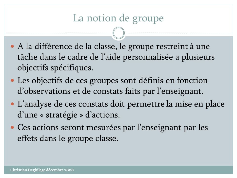 La notion de groupe