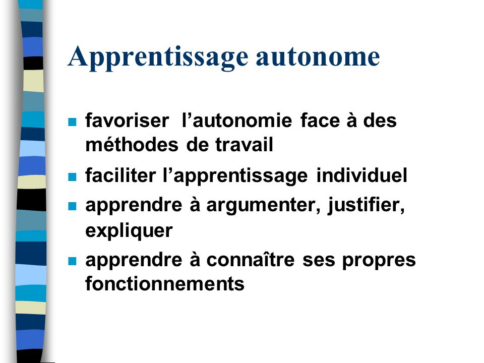 Apprentissage autonome