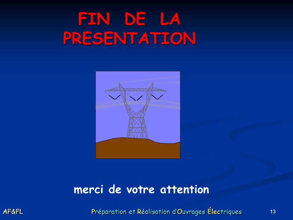 FIN DE LA PRESENTATION merci de votre attention