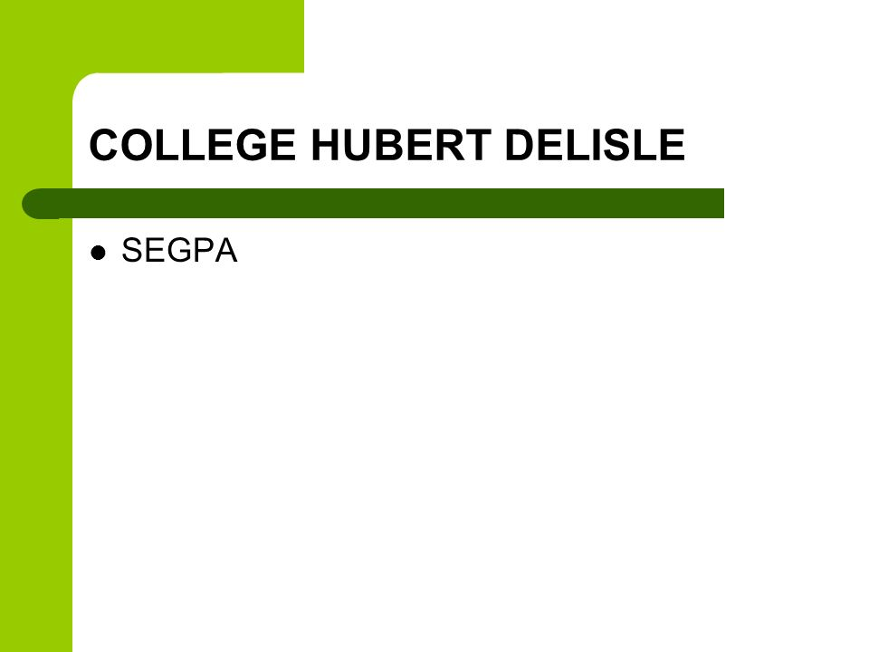 COLLEGE HUBERT DELISLE