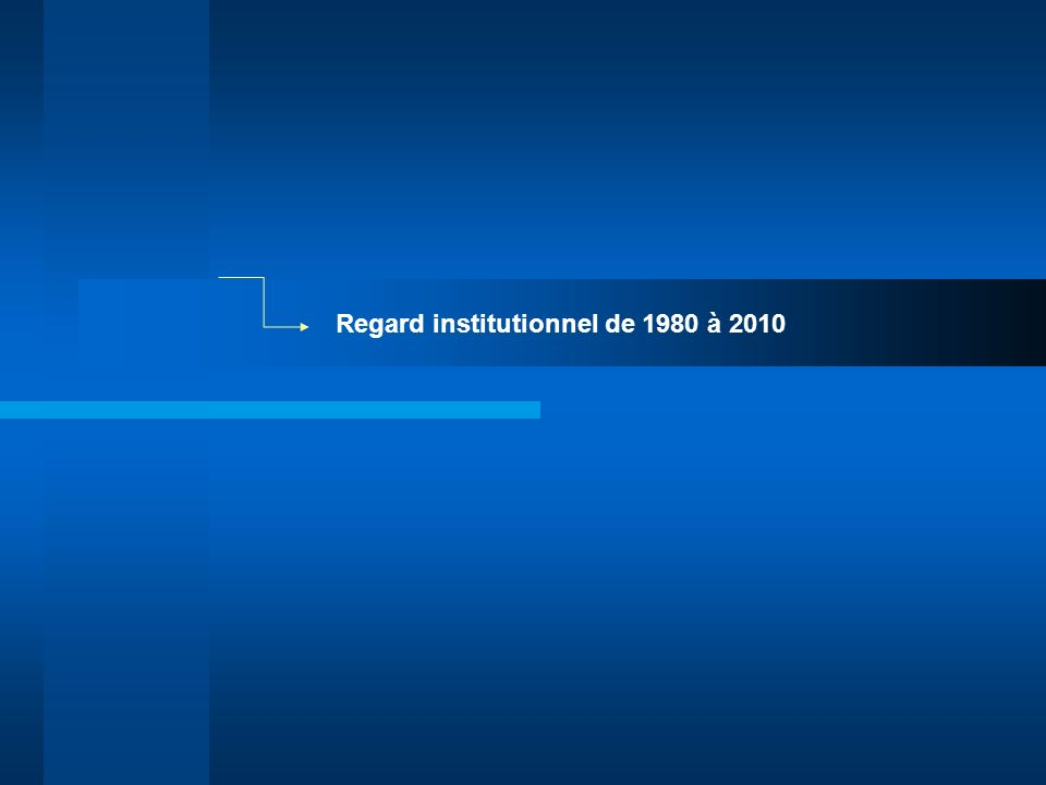 Regard institutionnel de 1980 à 2010