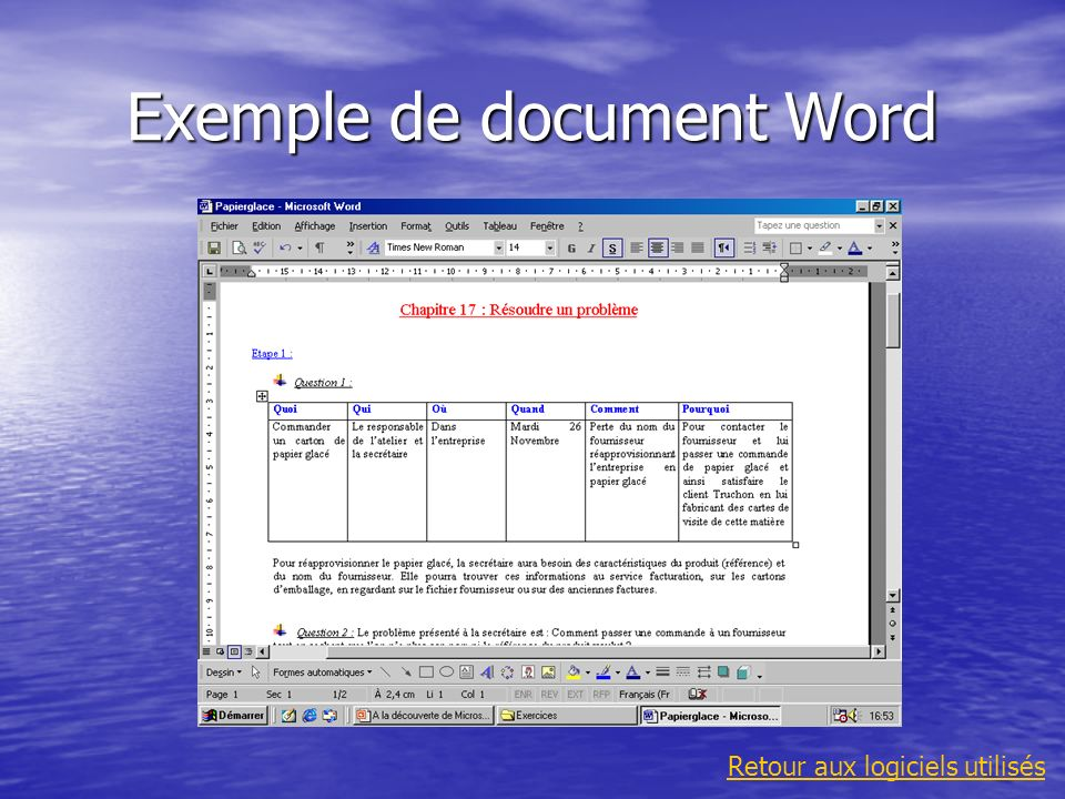 Exemple de document Word