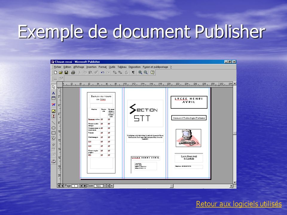 Exemple de document Publisher