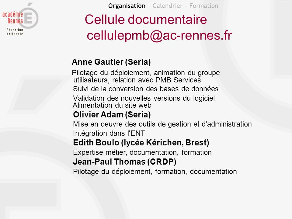 Cellule documentaire