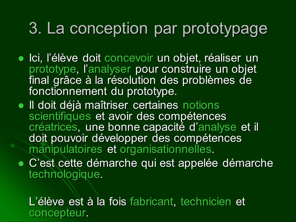 3. La conception par prototypage