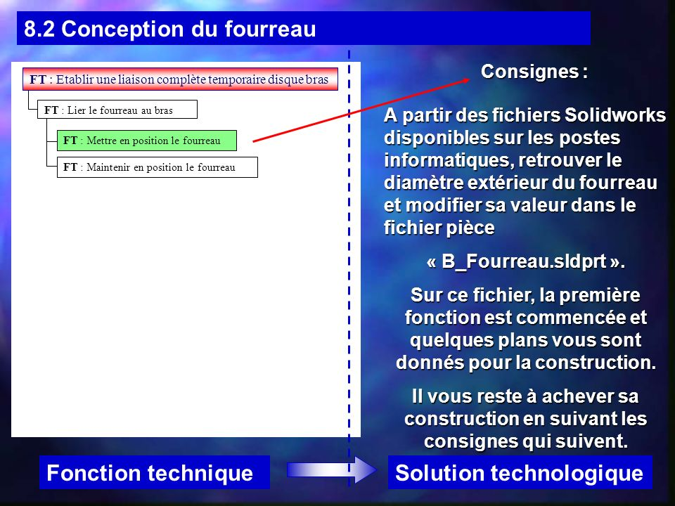 8.2 Conception du fourreau