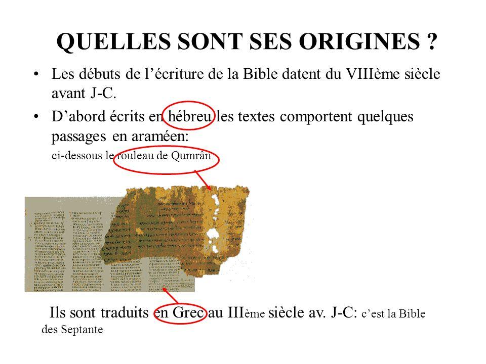 biblique datant de l'écriture