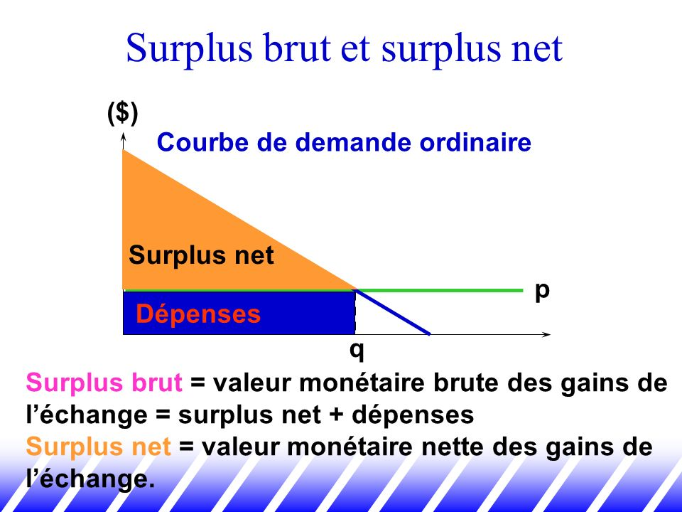 Surplus brut et surplus net