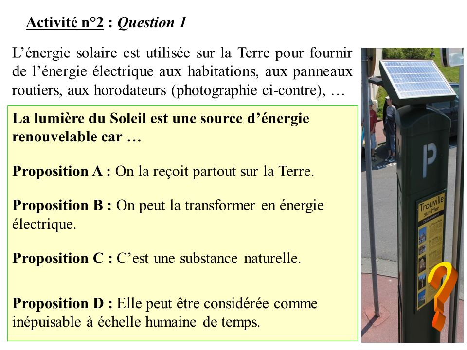 Activité n°2 : Question 1
