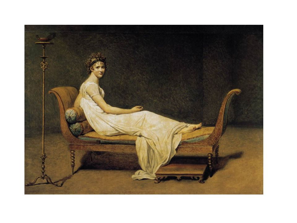 David, 1800: Madame de Récamier. Vétue à l'Antique