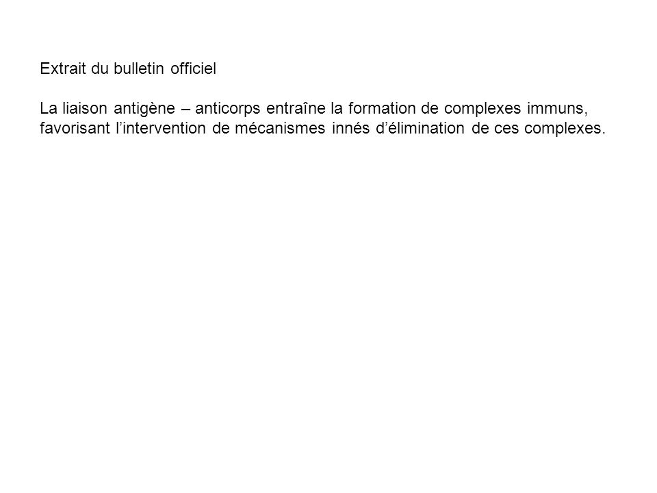 Extrait du bulletin officiel