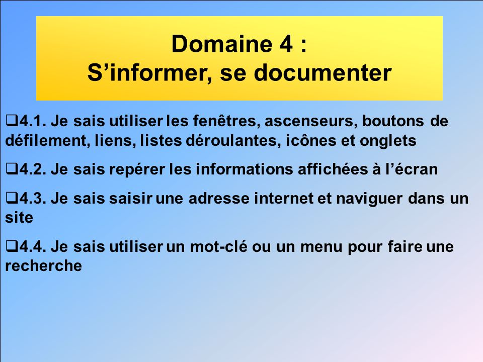 S'informer, se documenter