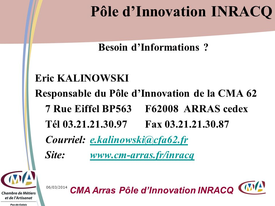 Pôle d'Innovation INRACQ