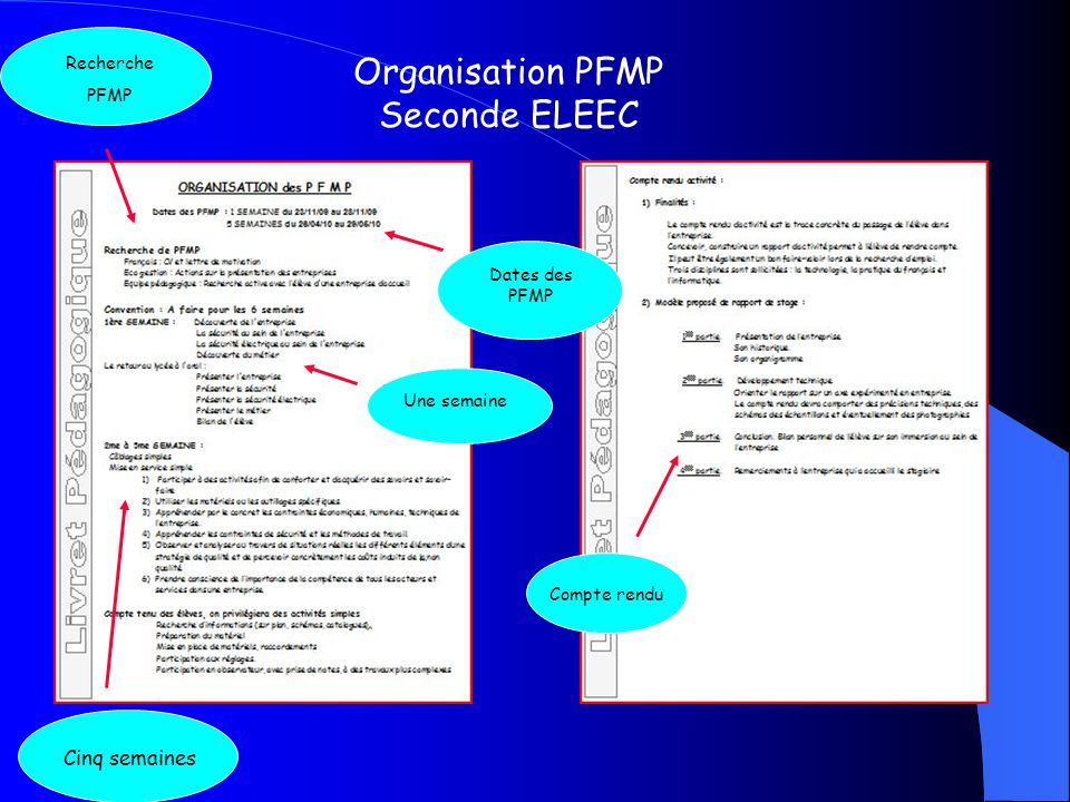 Organisation PFMP Seconde ELEEC