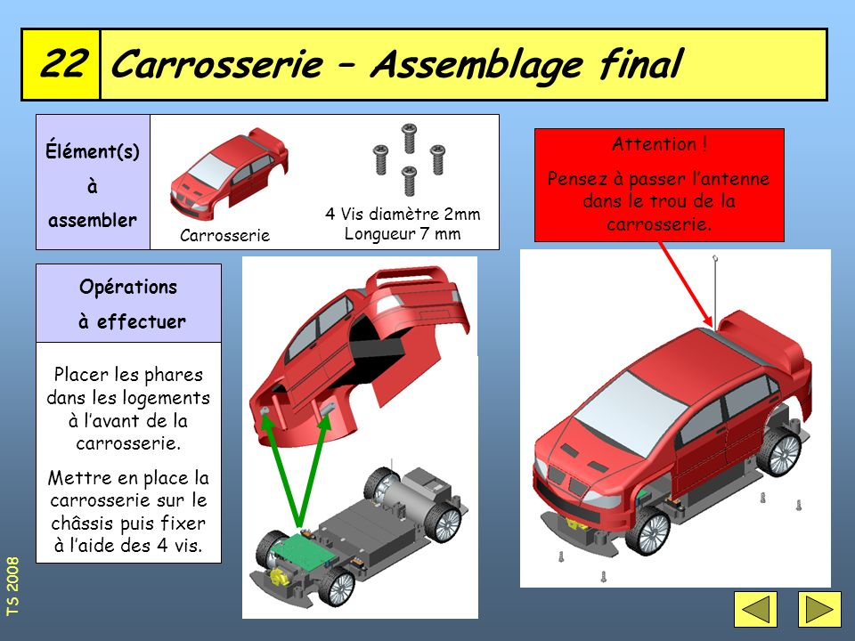 Carrosserie – Assemblage final