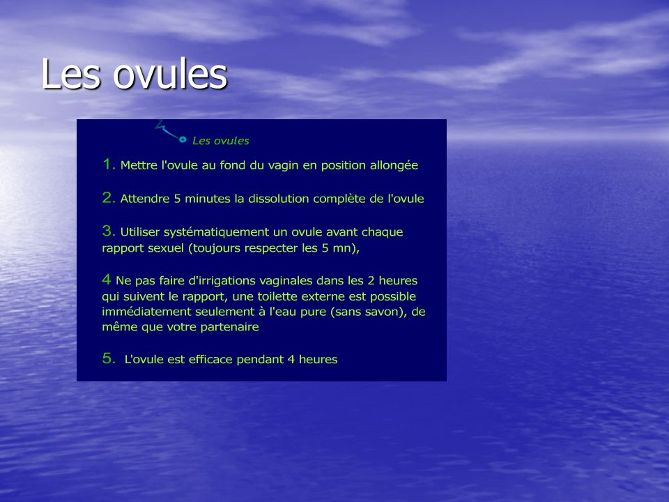 Les ovules