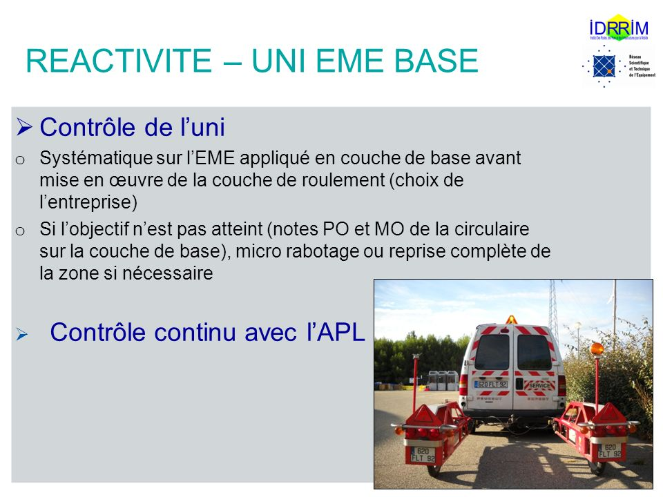 REACTIVITE – UNI EME BASE