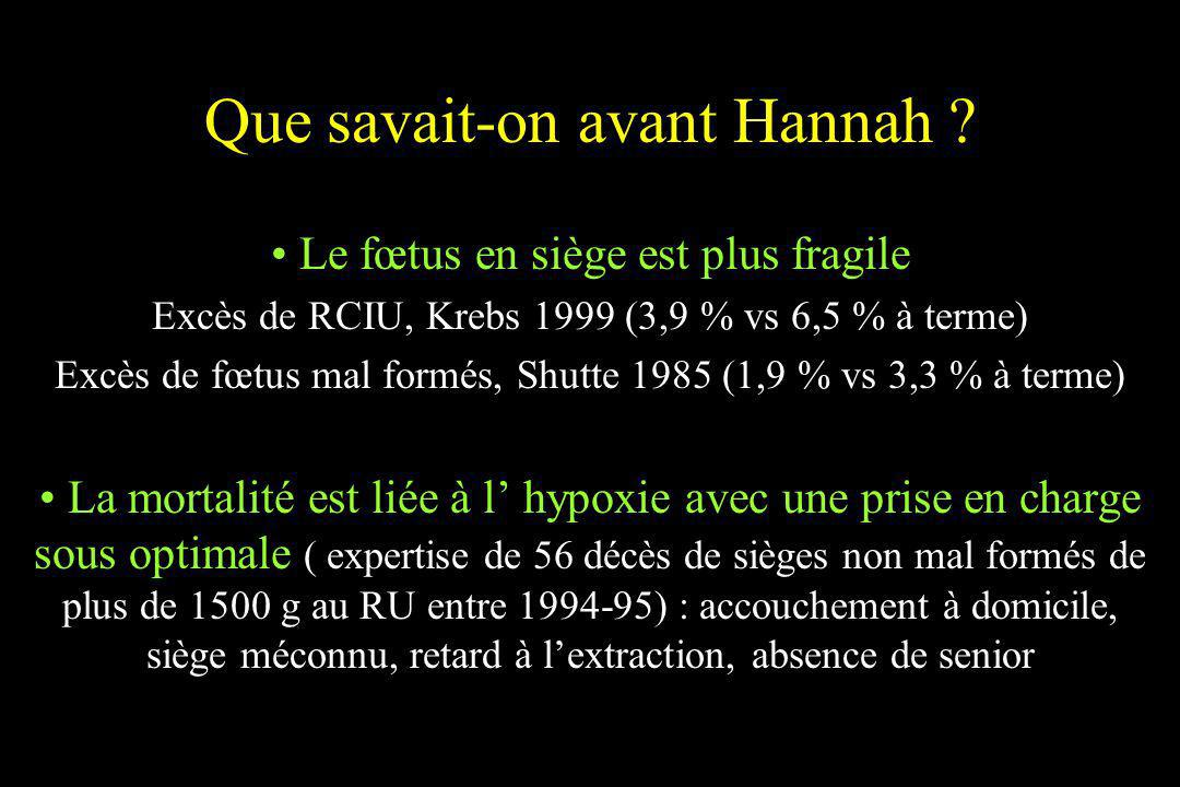 Que savait-on avant Hannah