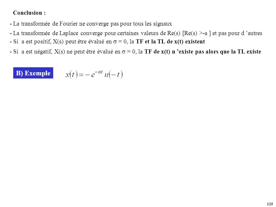 B) Exemple Conclusion :