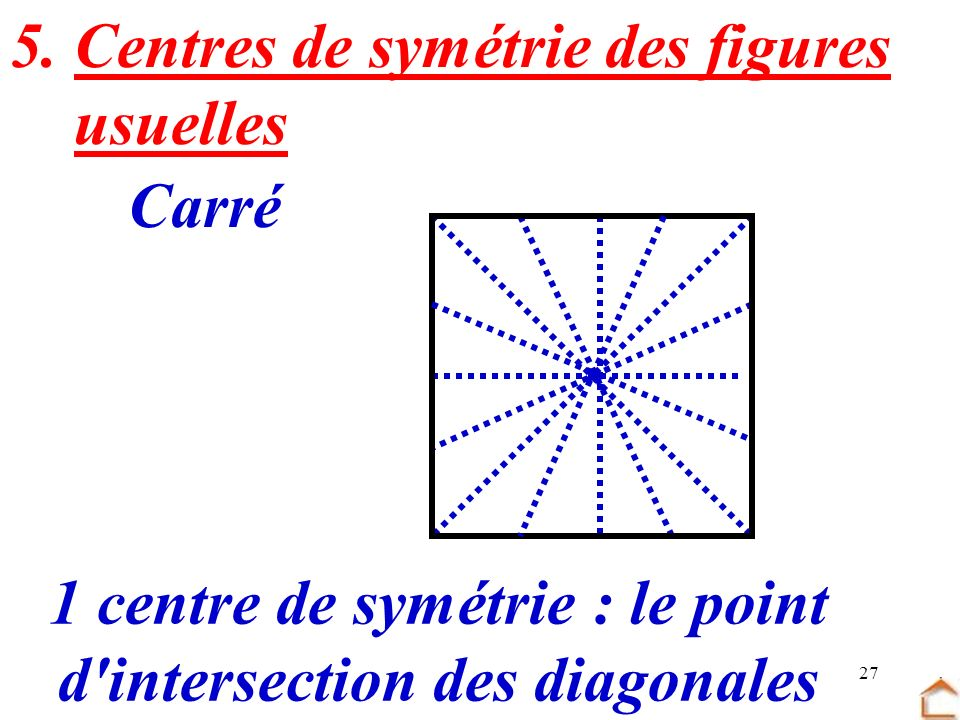 d intersection des diagonales