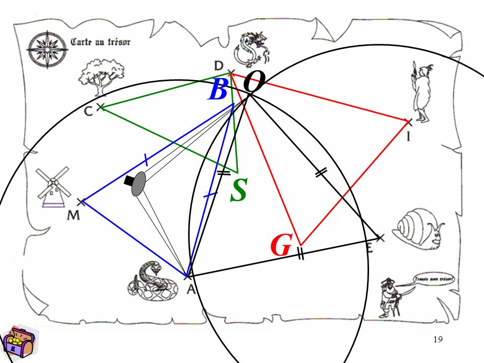 Carte Au Tresor Geometrie.La Carte Au Tresor Ppt Video Online Telecharger