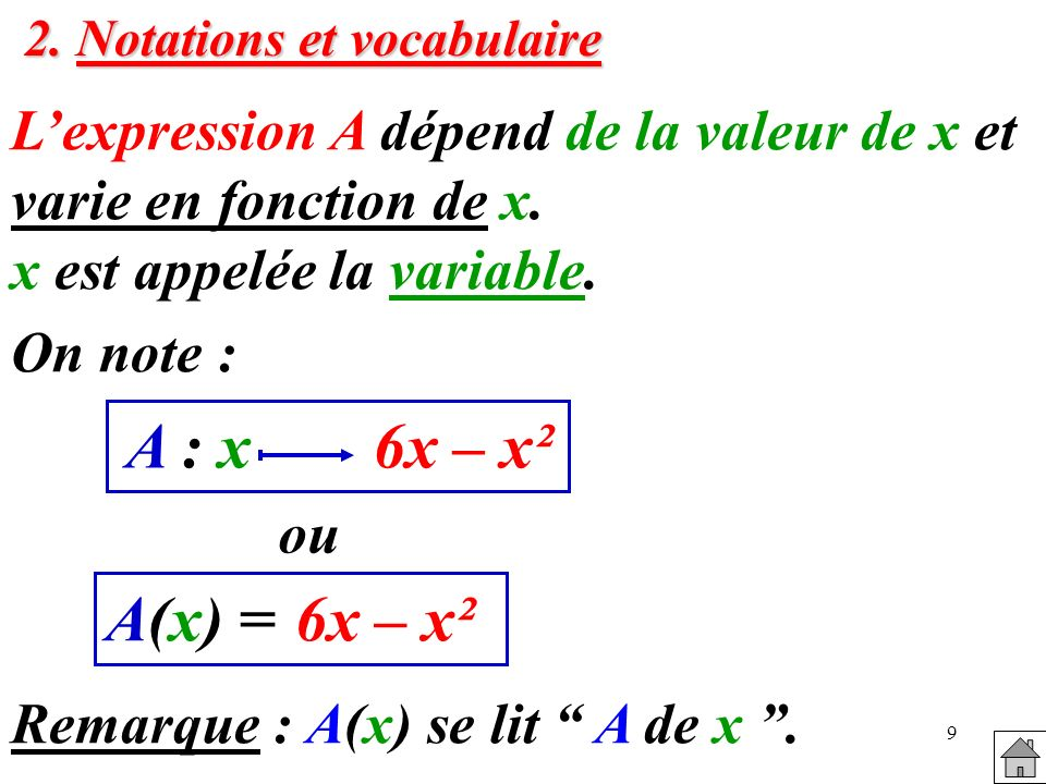 2. Notations et vocabulaire