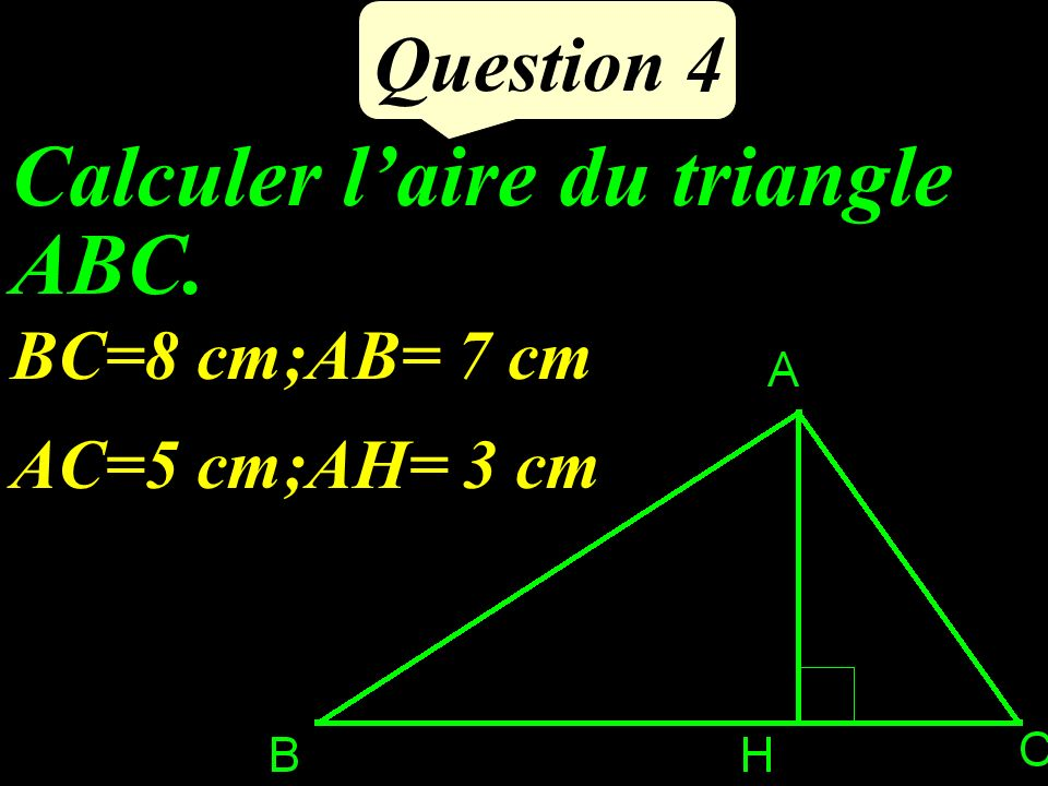 Calculer l'aire du triangle ABC.